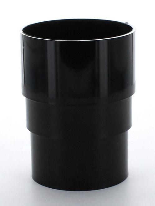 BR017 Hunter Surefit Guttering 68mm Pipe Connector Black