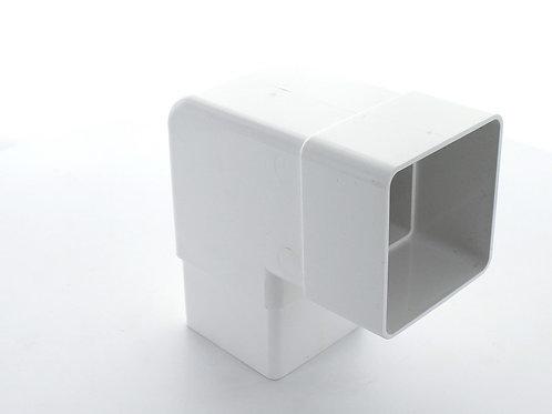 WR393 Hunter Squareflo Guttering 65mm 92.5 Degree Bend White