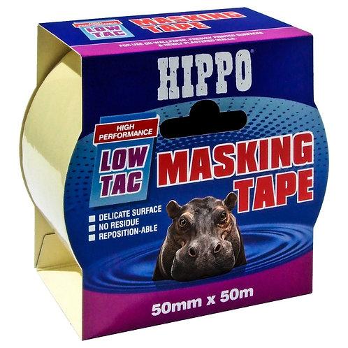 Hippo Low-Tac Masking Tape 50mm x 50m