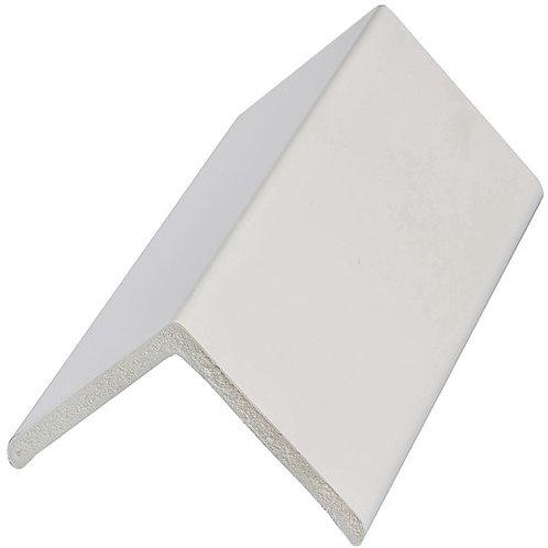 25mm White Pvc Angle
