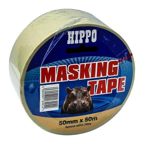 Hippo Masking Tape - 50mm x 50m