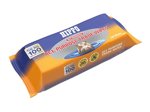 Hippo All Purpose Trade Wipes - Pack Of 100