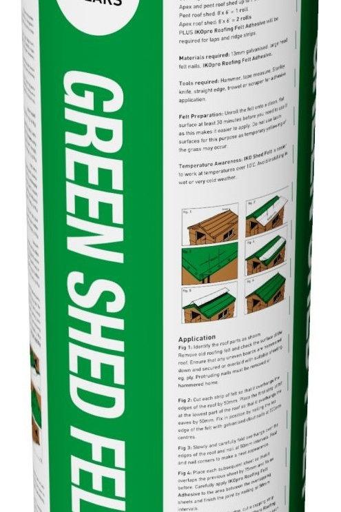 Iko Shed Felt Green 10m x 1m 25kg
