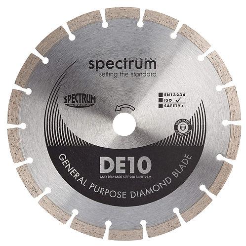 General Purpose Diamond Blade DE10 - 230mm 22.2mm Bore