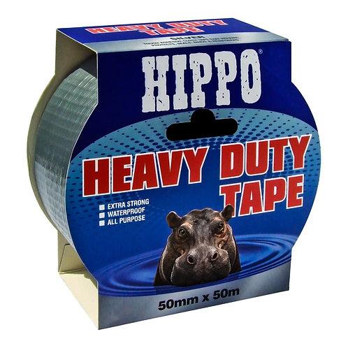 Hippo Heavy Duty Duct Tape Silver - 50mm x 50m
