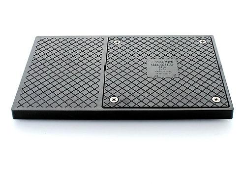 DS010 Hunter Underground 150mm X 250mm Sealed Back Inlet Plate Black