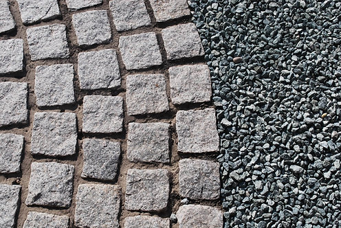 Hand-Cropped Granite Setts - Silver