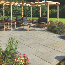 Light Grey Sandstone Paving