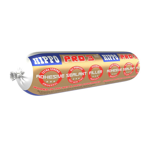 Hippo PRO3 3in1 Adhesive, Sealant & Filler 400ml ECO-PAC White