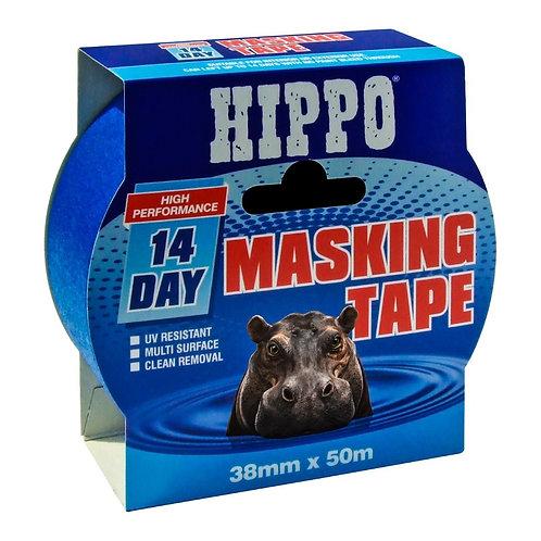 Hippo 14-Day Masking Tape Blue - 38mm x 50m