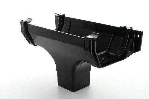 BR376 Hunter Squareflo Guttering 114mm Running Outlet Black