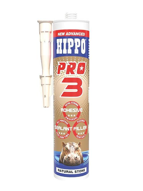 Hippo Pro3 3in1 Adhesive, Sealant & Filler 310ml Cartridge Natural