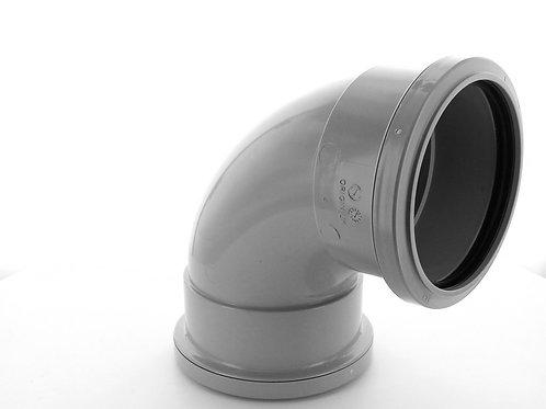 GS671 Hunter Soil 110mm 92.5 Double Socket Bend Grey