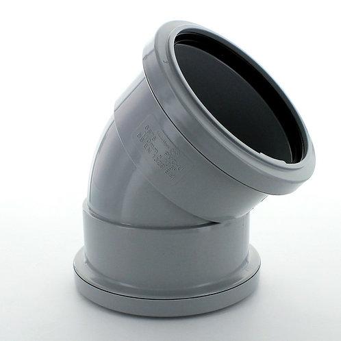 GS676 Hunter Soil 110mm 135 Degree Double Socket Bend Grey