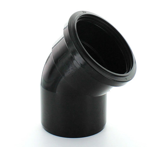 BS331 Hunter Soil 110mm 135 Degree Bend Black