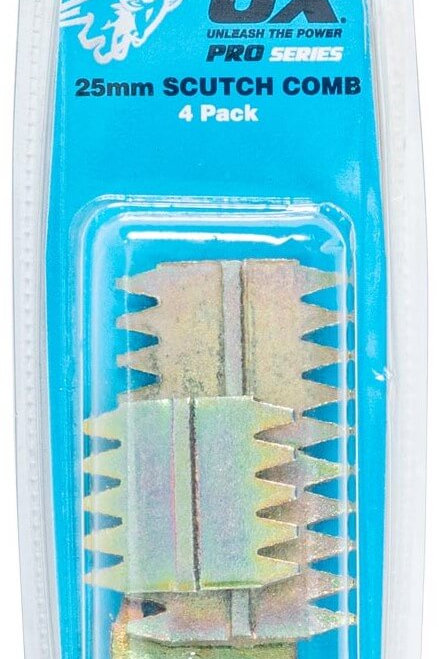 Ox Pro Scutch Combs 25mm - Pack of 4