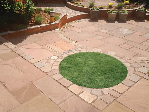Premium Calibrated Sandstone Paving - Sunset - 15.22sqm Project Pack