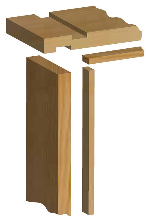 Softwood Door Lining Set with Stops - 32mm x 115mm 2'6 inch/2'9 inch