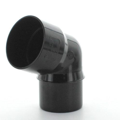 BR020 Surefit  68mm 112.5 Degree Bend Black
