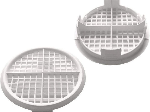 Push in Soffit Vent Circular 70mm White Pk of 10no