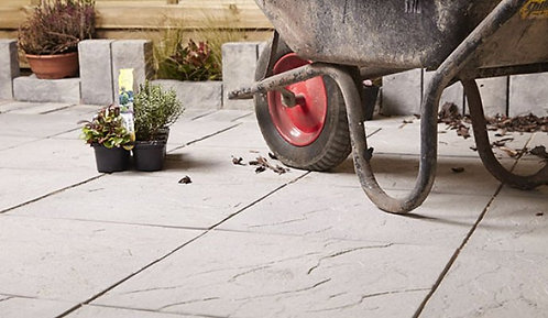 Stamford Riven Paving Slabs Charcoal