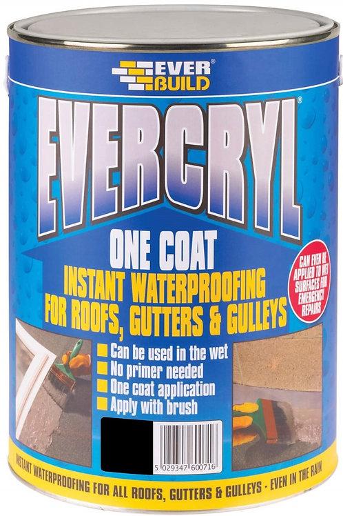 Evercryl One Coat Roof Repair Black - 5 litres