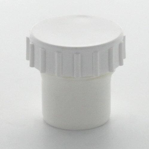 WW090 Hunter Waste 32mm Screwed Access Cap White