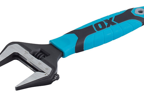 Ox Pro Adjustable Wrench Extra Wide Jaw - 6 inch