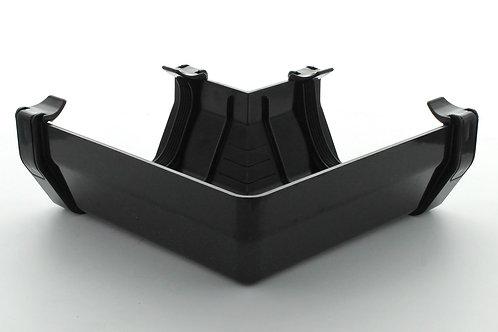 BR383 Hunter Squareflo Guttering 114mm 90 Degree Angle Black