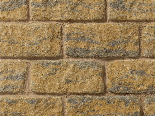 Burford Tumbled Walling - Buff Black