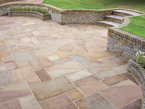 Premium Calibrated Sandstone Paving Sunrise