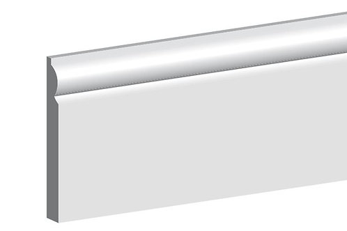 Primed MDF Torus Skirting 18mm x 119mm 4.4m Length