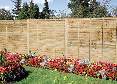 Professional Lap Fence Panels Green Treated
