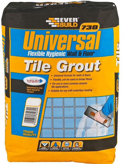 730 Universal Flexible Grout Grey 5KG
