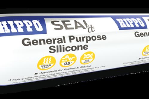 Hippo SEALit General Purpose Silicone 400ml ECO-PAC - Clear