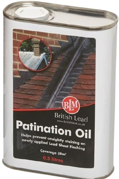 Lead Patination Oil 500ml covers 30sqm approx