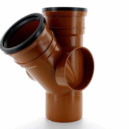 DS430 Hunter Underground 160mm 45 Degree Double Socket Equal Junction