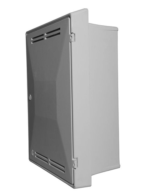 Gas Meter Box UK Standard mark 2 Recessed - White GBP0001