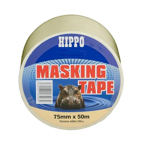 Hippo Masking Tape - 75mm x 50m