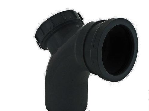 BS326 Hunter Soil 110mm 92.5 Degree Access Bend Black