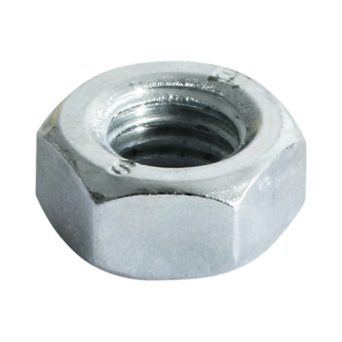 Hex Full Nuts Zinc Plated M10 - Pack of 20