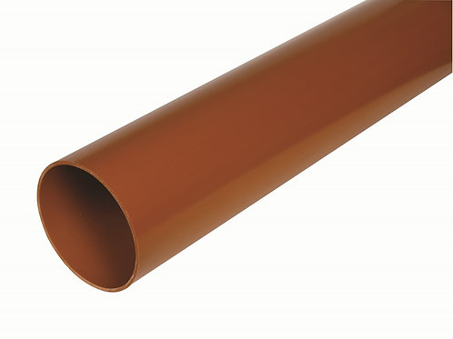 DS544 Hunter UG Pipe 110mm U/G Drain Pipe 6m P/E Terracotta