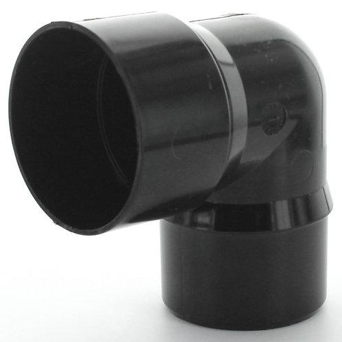 BR577 Hunter Surefit Guttering 68mm 92.5 Degree Bend Black