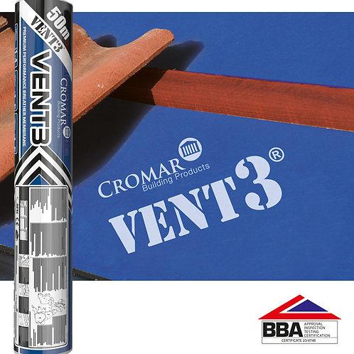 Vent3 135gsm Breathable Roof Membrane 1m x 50m