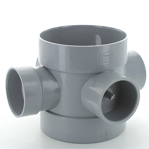GS218 Hunter Soil 110 x 50mm Short Boss Pipe Grey