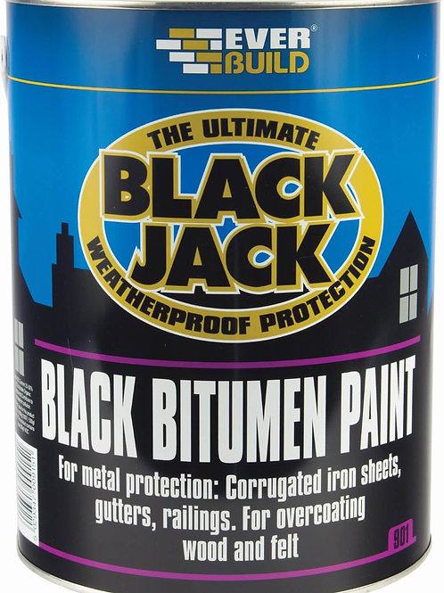 Black Jack 901 Black Bitumen Paint - 5 litres