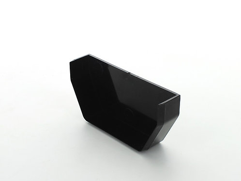 BR381 Hunter Squareflo Guttering 114mm Stopend Internal Black