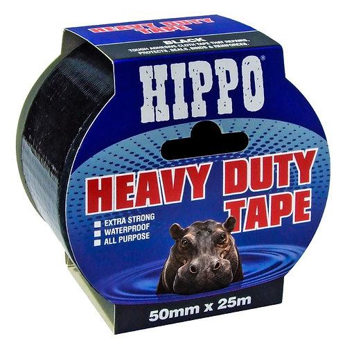 Hippo Heavy Duty Duct Tape Black - 50mm x 50m