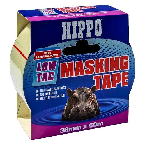 Hippo Low-Tac Masking Tape 38mm x 50m