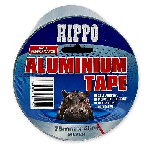Hippo Extra Strong Pressure Sensitive Aluminium Tape - 75mm x 45m
